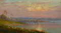 American:Marine, The Hon. Paul H. Buchanan, Jr. Collection. CHARLES A. WATSON(American, 1857-1923). Bay of Baltimore. Oil on artist's ...