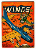 Golden Age (1938-1955):War, Wings Comics #22 (Fiction House, 1942) Condition: FN/VF....