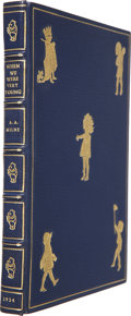Books:First Editions, A. A. Milne. When We Were Very Young. [New York]: E. P.Dutton & Co., [1924]. One of 500 copies of the First Ame...