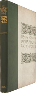 Books:First Editions, Mrs. Schuyler Van Rensselaer. Henry Hobson Richardson and HisWorks. Boston and New York: Houghton, Mifflin and Comp...