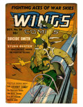 Golden Age (1938-1955):War, Wings Comics #14 (Fiction House, 1941) Condition: FN-....