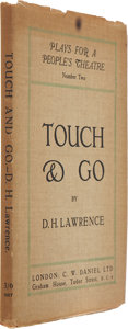 Books:First Editions, D. H. Lawrence. Touch and Go. C. W. Daniel, London, 1920.First edition....