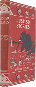 Books:First Editions, Rudyard Kipling. Just So Stories. London: Macmillan and Co.,1902. Small quarto....