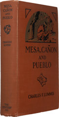 Books:Signed Editions, Charles Lummis. Mesa, Canyon and Pueblo. New York: Charles Century Co., 1925. First edition of this title. Inscr...