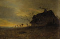 Fine Art - Painting, American:Antique  (Pre 1900), JAMES RENWICK BREVOORT (American, 1832-1918). Landscape withFarmhouse. Oil on canvas. 15 x 22 inches (38.1 x 55.9 cm). ...