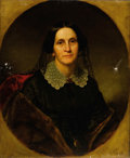Fine Art - Painting, American:Antique  (Pre 1900), GEORGE PETER ALEXANDER HEALY (American, 1813-1894). Portrait of Margaret Gail Moore, 1804-1893. Oil on canvas. 30 x ...