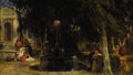 Fine Art - Painting, European:Antique  (Pre 1900), PETER FREDERICK ROTHERMEL (American, 1817-1895). Venezia,1863. Oil on canvas. 11 x 19 inches (27.9 x 48.3 cm). Signed a...