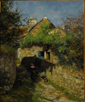 Fine Art - Painting, American:Antique  (Pre 1900), WILLIAM LAMB PICKNELL (American, 1854-1897). Spring inPont-Aven, circa 1879. Oil on canvas. 22 x 18 inches (55.9 x...