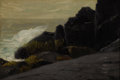 Fine Art - Painting, American:Modern  (1900 1949)  , ROBERT (COZAD) HENRI (American, 1865-1929). Sea Cliffs,early 20th century . Oil on board. 7-1/4 x 10-1/4 inches (18.4 x...