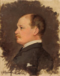 Fine Art - Painting, American:Antique  (Pre 1900), HERMAN N. HYNEMAN (American, 1859-1907). Portrait of Mr. Cht.Collis, 1885. Oil on canvasboard. 10 x 8 inches (25.4 x 20...