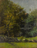 Fine Art - Painting, American:Antique  (Pre 1900), FRANK FOWLER (American, 1852-1910). Landscape with Cottage.Oil on wood panel. 16-1/2 x 12-3/4 inches (41.9 x 32.4 cm). ...