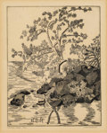 Prints:American, L. ROTHENBERG (American, 20th Century). Central Park (1970)and Preston, Connecticut. Engraving. 8-3/4 x 7 inche...(Total: 2 Items)