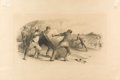 Fine Art - Painting, American:Antique  (Pre 1900), GEORGE A. TRAVER (American, 1864-1928). The Cotton Pickers,1886. Wash and graphite on paper laid on cardboard. 11-3/4 x...