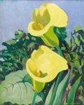 Fine Art - Painting, American:Modern  (1900 1949)  , JANE PETERSON (American, 1876-1965). Lilies. Oil on canvas.29 x 23 inches (73.7 x 58.4 cm). Signed lower right: J...