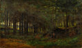 Fine Art - Painting, American:Antique  (Pre 1900), MARCUS A. WATERMAN (American, 1834-1914). Figures in theWoods. Oil on canvas. 17 x 29 inches (43.2 x 73.7 cm). Sign...