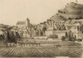 Fine Art - Work on Paper:Drawing, THEODORE FRANSIOLI (American, 20th Century). St. Cyprien,Dordogne, 1955. Graphite on paper. 10-3/4 x 10-1/2 inches(27....