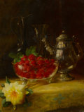 Fine Art - Painting, American:Modern  (1900 1949)  , FREDERICK M. FENETTY (American, 1854-1915). Strawberry StillLife. Oil on board. 23-3/4 x 17-3/4 inches (60.3 x 45.1 cm)...
