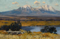 American:Western, The Hon. Paul H. Buchanan, Jr. Collection. CHARLES PARTRIDGE ADAMS(American, 1858-1942). Spanish Peaks, Colorado. Oil...