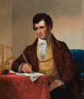 Paintings, PROPERTY OF A PRIVATE TEXAS COLLECTOR. JAMES H. CAFFERTY (American, 1819-1869). Portrait of Robert Fulton, 1852. Oil o...