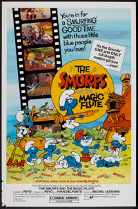 "The Smurfs and the Magic Flute (Atlantic Releasing, 1983). One Sheet (27"" X 41""). Animated"