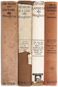 Books:First Editions, W. Somerset Maugham. Four American First Editions, including:The Moon and Sixpence. [and:] Liza of Lambeth....(Total: 4 Items)