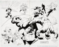Original Comic Art:Panel Pages, Bill Marimon and Jon Nyberg Green Arrow #79 page 7 and 8Original Art (DC, 1993)....