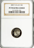 Proof Roosevelt Dimes, 2007-S 10C Clad PR70 Ultra Cameo NGC. PCGS Population (155/0).Numismedia Wsl. Price for NGC/PCGS coin ...