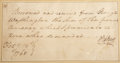 """Autographs:U.S. Presidents, George Washington Autograph Document Signed in the third person. One page, 6.25"""" x 3.25"""", [Mount Vernon], February 13, 1768.... (Total: 2 Items)"""