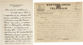 Autographs:U.S. Presidents, William Taft Autograph Letter Signed as chief justice on SupremeCourt Letterhead, to West Virginia Senator Howard Sutherlan...