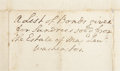 "Autographs:U.S. Presidents, George Washington Autograph Endorsement Containing the Name ofLawrence Washington. One page, 9.5"" x 14.25"", n.d. [ca. 1..."