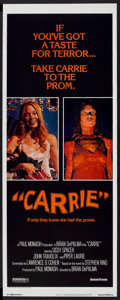 """Movie Posters:Horror, Carrie (United Artists, 1976). Insert (14"""" X 36""""). Horror.. ..."""