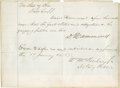 """Autographs:U.S. Presidents, William McKinley Signed and Annotated Document. One page, 7.5"""" x5.5"""", January 17, 1871, Stark County, Ohio. A legal documen..."""