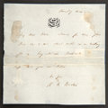 """Autographs:Authors, Sir Richard Francis Burton Autograph Letter Signed. One page, 4.5""""x 4.5"""", """"Thursday even"""", n.p., on stationery embossed..."""