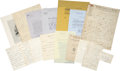 Autographs:Celebrities, Early Women Reformers' Archive. This interesting and wide-rangingcollection features letters, notes, and associated items, ...(Total: 11 Items)