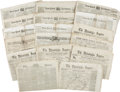 Autographs:Military Figures, [Civil War] Group of 17 Newspapers. Including 8 issues of the New-York Tribune, 5 issues of the Philadelphia Inquirer... (Total: 17 Items)