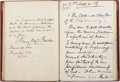 "Autographs:Celebrities, Henry Ward Beecher Autograph Manuscript Signed. Twenty pages, 5"" x8"", March 30, 1884, ""Brooklyn N.Y./ U.S.A."" The text ..."