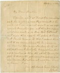 "Autographs:Non-American, John Wesley Autograph Letter Signed ""J Wesley"". One page, 6""x 7.5"", November 1, 1775, n.p. A noted Christian theologian..."