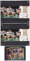 Football Collectibles:Others, Joe Montana UDA Signed Cards Lot of 3. ... (Total: 3 cards)