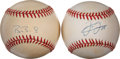 Autographs:Baseballs, Barry Bonds and Frank Thomas Single Signed Baseballs. ... (Total: 2items)