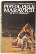 Basketball Collectibles:Others, Pete Maravich Signed Book. ...
