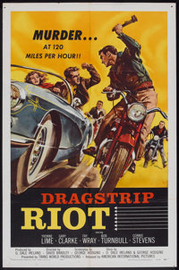 "Dragstrip Riot (American International, 1958). One Sheet (27"" X 41""). Drama"