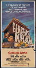 "Movie Posters:Adventure, Genghis Khan (Columbia, 1965). Three Sheet (41"" X 81""). Adventure....."