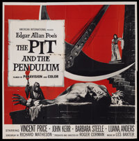 "The Pit and the Pendulum (American International, 1961). Six Sheet (81"" X 81""). Horror"