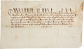Autographs:Non-American, [Edward III] Royal Pardon of Richard de Strellary in the Death ofWilliam le Deye de Lenton, 1339. One page with docketing o...