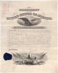 Autographs:U.S. Presidents, Grover Cleveland Document Signed as the twenty-second president andcountersigned by Secretary of War William C. Endic...