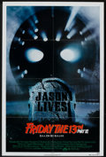 "Movie Posters:Horror, Friday the 13th Part VI: Jason Lives (Paramount, 1986). One Sheet (27"" X 41""). Horror.. ..."