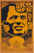 Music Memorabilia:Posters, The Byrds/Sonny And Cher - Robert Kennedy Benefit Concert Poster(1968)....