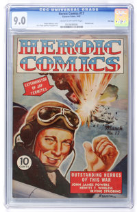 Heroic Comics #17 File Copy (Eastern Color, 1943) CGC VF/NM 9.0 Cream to off-white pages
