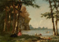 Fine Art - Painting, American:Antique  (Pre 1900), PROPERTY OF A PRIVATE TEXAS COLLECTOR. THOMAS WORTHINGTONWHITTREDGE (American, 1820-1910). The Boating Party, 1861.O...