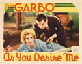 "Movie Posters:Drama, As You Desire Me (MGM, 1932). Lobby Card (11"" X 14"").. ..."